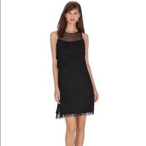 WHBM Fringe Tiered Flapper Dress